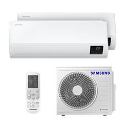 Ar Condicionado Multi Bi Split Inverter Samsung 1x12000+1x24000 Btus Quente/frio 220V Monofasico AJ080TXJ4KH/EA