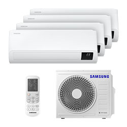 Ar Condicionado Multi Quadri Split Inverter Samsung 3x9000+1x12000 Btus Q/f 220v Mono Aj080txj4kh/ea