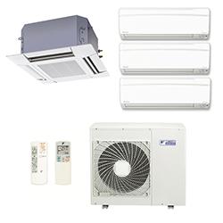 Ar Condicionado Multi Split Inverter Daikin Advance 3X9000(HW) + 1X12000(Cassete) Btu/s Quente/Frio 220v 1F
