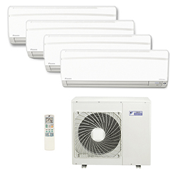 Ar Condicionado Multi Split Inverter Daikin Advance 3X12000(HW) + 1X9000(HW) Btu/s Quente/Frio 220v 1F